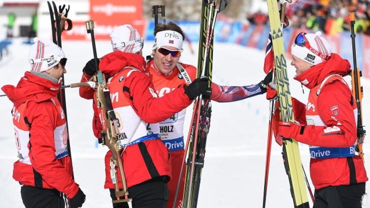 Norwegowie wygrali sztafetę w Anterselvie
