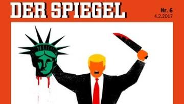 04-02-2017 13:35 Odcięta głowa, zakrwawiony nóź i... Trump. Niemiecki tygodnik atakuje prezydenta USA