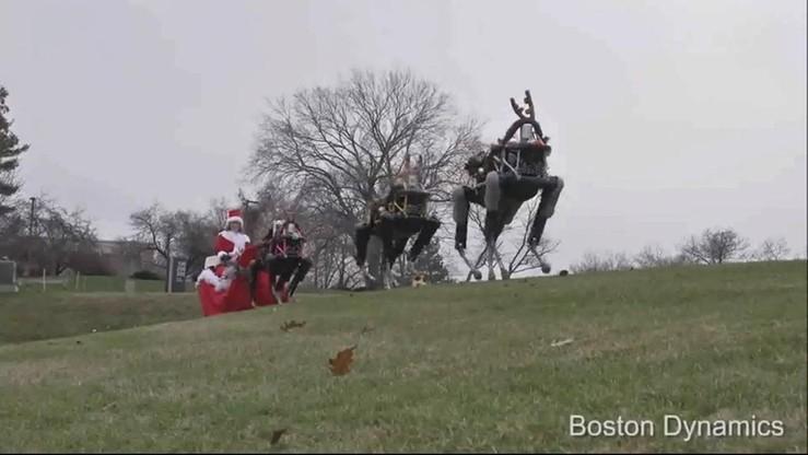 Roboty zastąpiły renifery Świętego Mikołaja