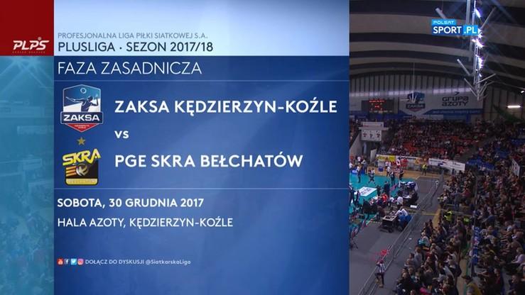 2017-12-30 ZAKSA Kędzierzyn-Koźle - PGE Skra Bełchatów 3:1. Skrót meczu