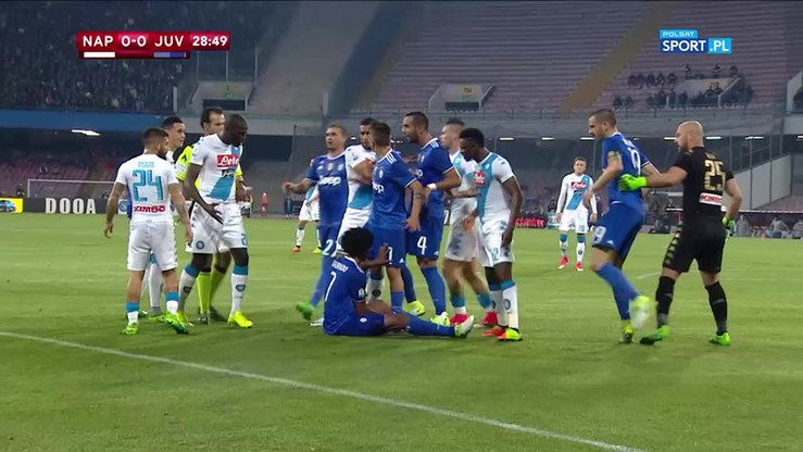 Awantura w meczu Napoli - Juventus!