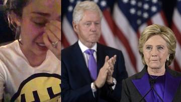 10-11-2016 11:14 Płacz i zgrzytanie zębów. Amerykańska gwiazda zalewa się łzami po przegranej Clinton