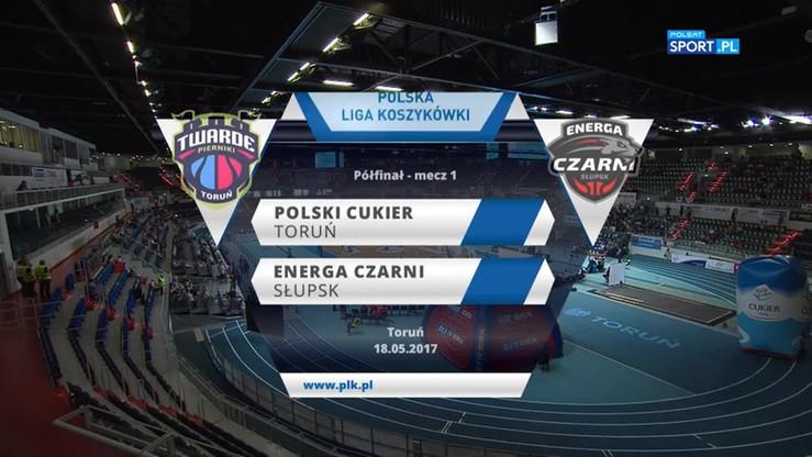 Polski Cukier Toruń - Energa Czarni Słupsk 78:72. Skrót meczu