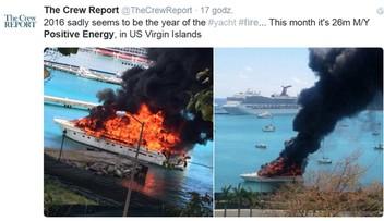 17-03-2016 11:21 Jacht wart 2 mln dolarów poszedł z dymem