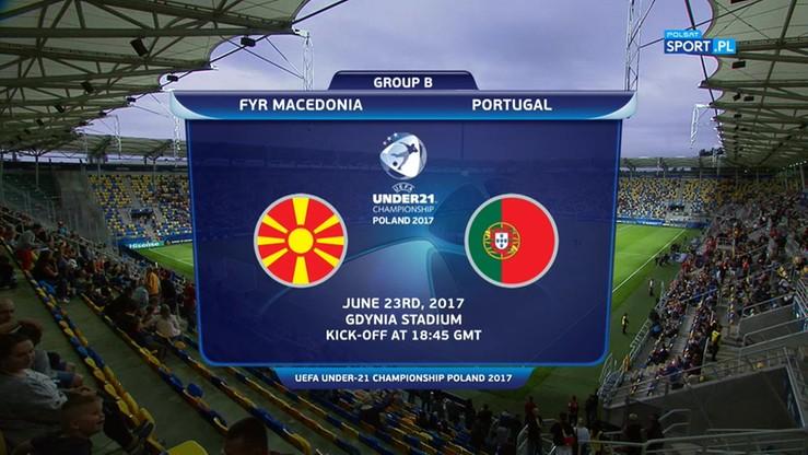 2017-06-23 Euro U-21: Macedonia - Portugalia 2:4. Skrót meczu
