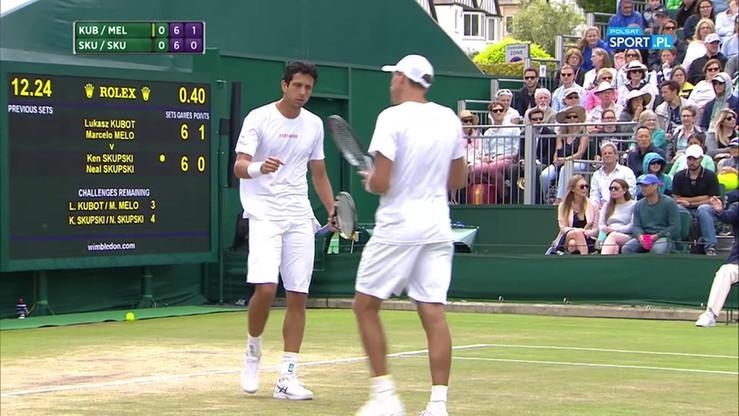 Wimbledon: Emocjonujący tie-break w drodze do półfinału wygrany przez duet Kubot/Melo