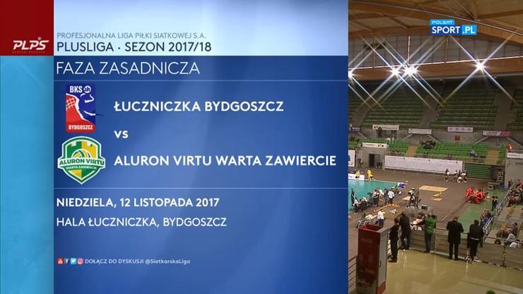 Łuczniczka Bydgoszcz – Aluron Virtu Warta Zawiercie 3:0. Skrót meczu
