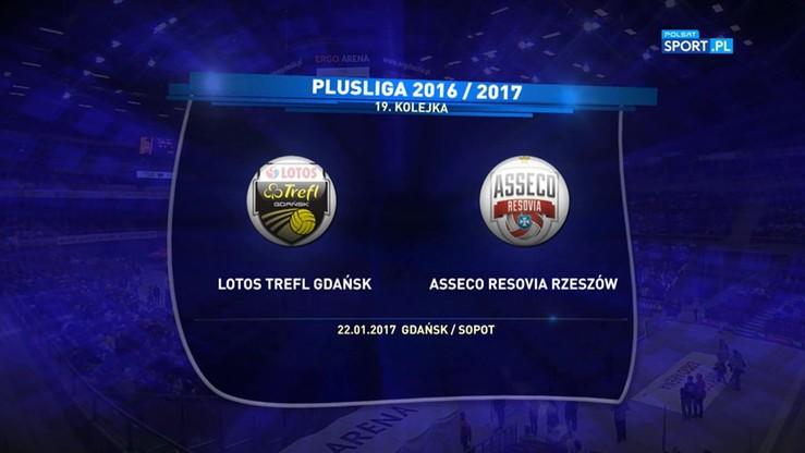 2017-01-22 Lotos Trefl Gdańsk - Asseco Resovia Rzeszów 3:2. Skrót meczu