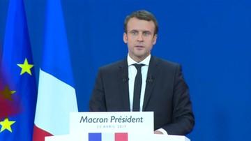 2017-04-24 Emmanuel Macron: chcę zostać prezydentem wszystkich Francuzów