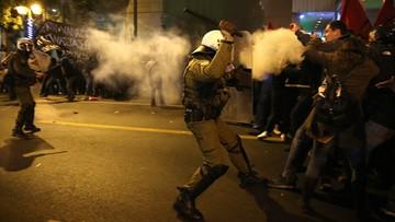 15-11-2016 22:45 Protesty przeciwko wizycie Obamy w Grecji. Interweniowała policja