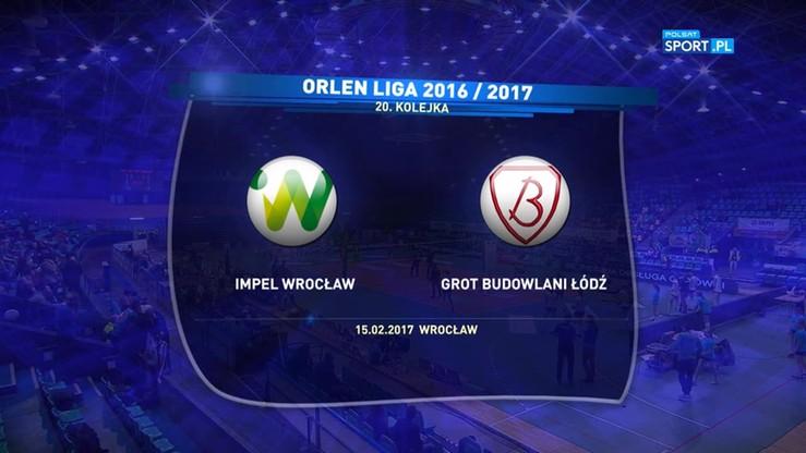 Impel Wrocław - Grot Budowlani Łódź 3:1. Skrót mecz