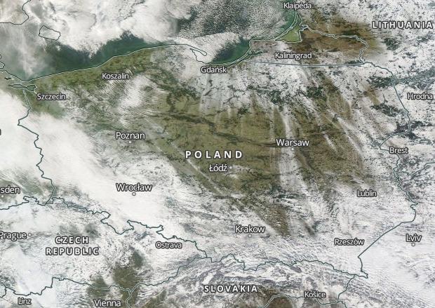 Satelita Ujawnia Gdzie Lezy Snieg Tuz Przed Odwilza Twojapogoda Pl