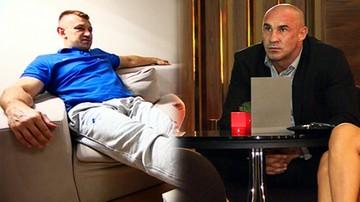 2015-09-05 Adamek i Saleta przed telewizorami. Góral: Nie lubię, kiedy wygrywają Niemcy