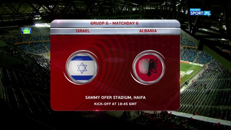 Izrael - Albania 0:3. Skrót meczu