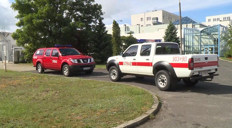 Pożar w Centrum Onkologii w Bydgoszczy. Ewakuowano pacjentów