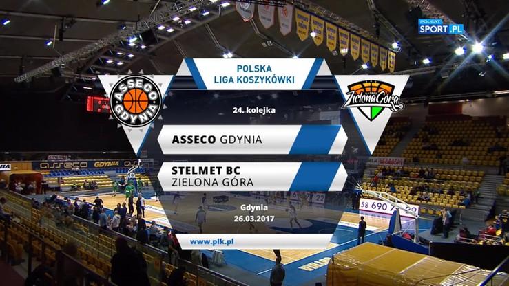 Asseco Gdynia - Stelmet BC Zielona Góra 64:84. Skrót meczu