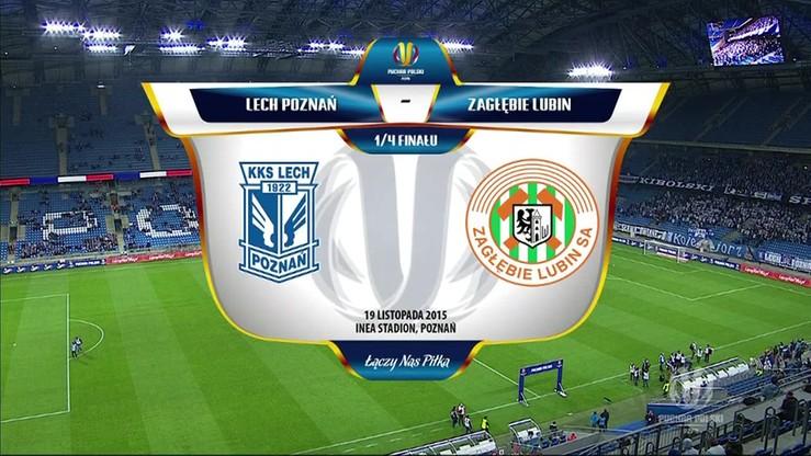 Puchar Polski: Lech Poznań - Zagłębie Lubin 1:0. Skrót meczu