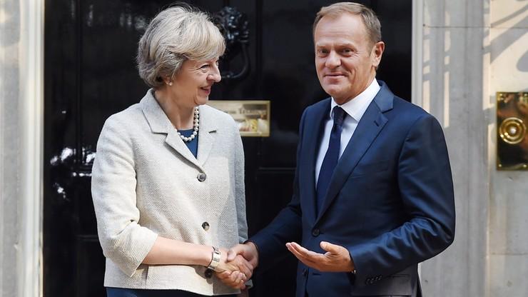 Tusk rozmawiał z May o bezpieczeństwie Polaków w Wielkiej Brytanii