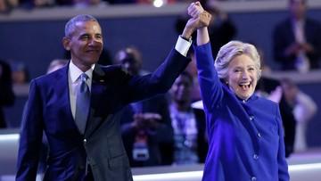 """28-07-2016 07:39 Obama popiera Clinton jako swoją następczynię i kontynuatorkę """"odwagi nadziei"""""""