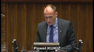 Wystąpienie Pawła Kukiza w Sejmie