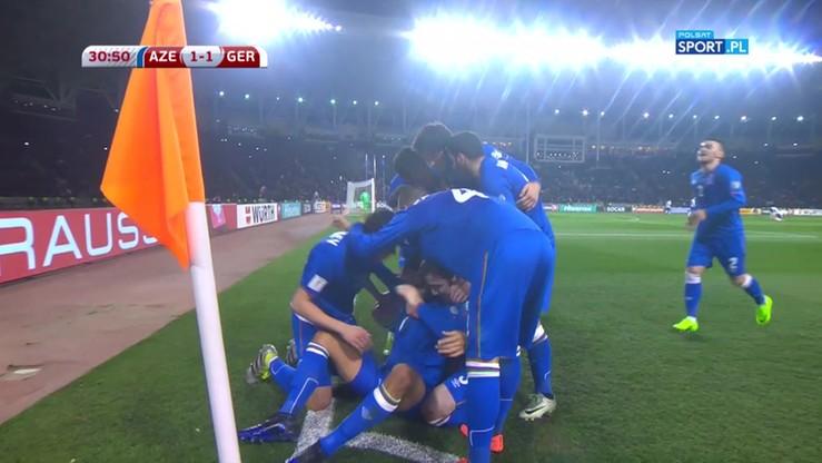 Azerowie rozklepali Niemców! Pierwszy stracony gol w el. MŚ 2018
