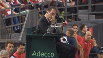 2017-02-06 Tenisista znokautował piłką sędziego i został zdyskwalifikowany (WIDEO)