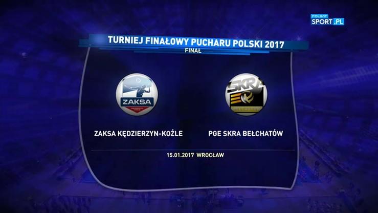 ZAKSA Kędzierzyn-Koźle - PGE Skra Bełchatów 3:1. Skrót finału Pucharu Polski