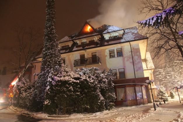 Zakopane: pożar hotelu ugaszony, goście mogą wracać