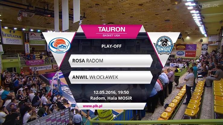 Rosa Radom - Anwil Włocławek 58:64. Skrót meczu