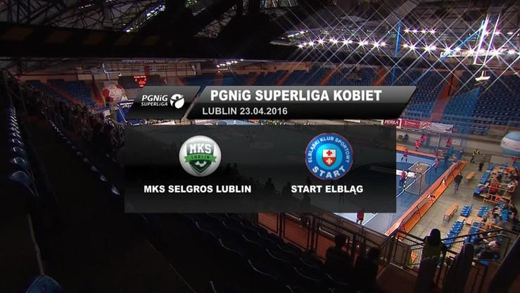 MKS Selgros Lublin - Start Elbląg 36:25. Skrót meczu