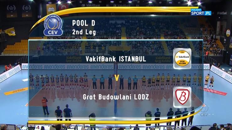 VakifBank Stambuł – Grot Budowlani Łódź 3:1. Skrót meczu