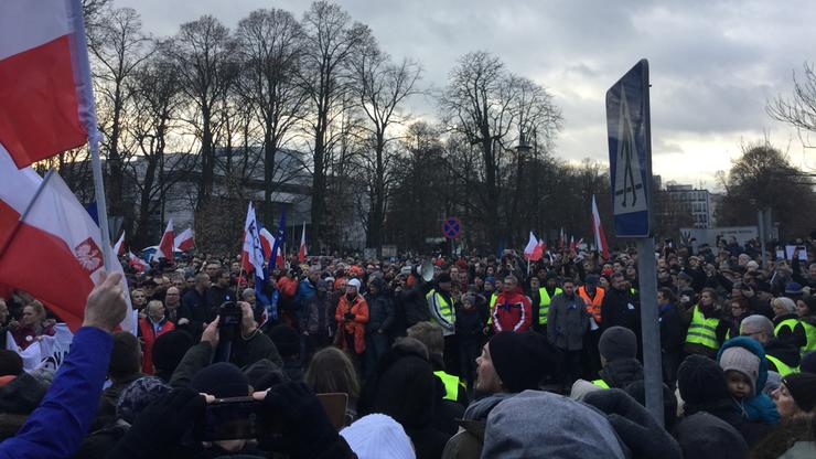 Manifestacja Obywatele dla demokracji w Warszawie