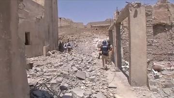 29-06-2017 12:25 Iracka armia odbiła z rąk IS ruiny wielkiego meczetu w Mosulu. To tam ogłoszono powstanie kalifatu