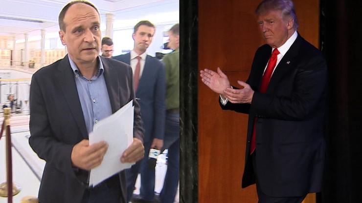 """Kukiz pisze do Trumpa. Gratuluje """"zwycięstwa przeciwko korupcji politycznej elit"""""""