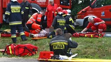 29-05-2016 12:59 Cztery osoby ranne, w tym dwójka dzieci. Czołowe zderzenie w Ząbrowie