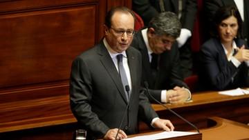 16-11-2015 17:49 Hollande chce zmian w konstytucji Francji, aby skuteczniej walczyć z terrorystami