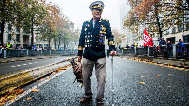 Manifestacja wojskowych w Belgii przeciwko podniesieniu wieku emerytalnego