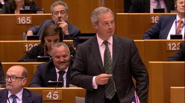 28-06-2016 12:50 Farage: kiedyś się ze mnie śmialiście. Teraz się nie śmiejecie, a ja tak