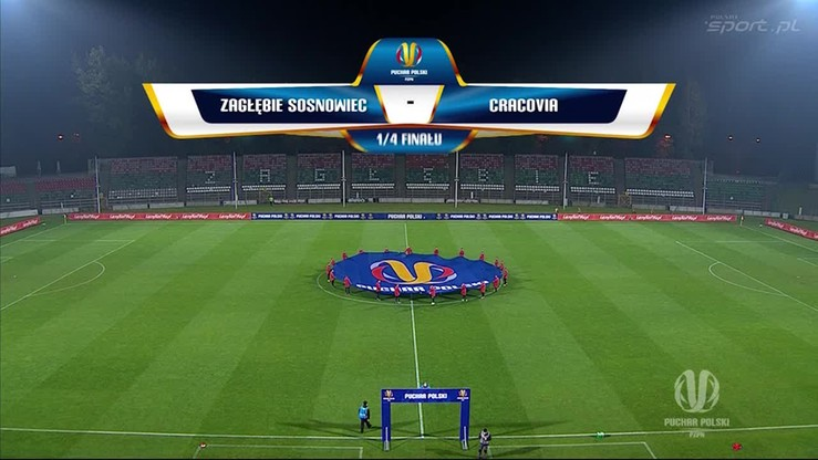 Zagłębie Sosnowiec - Cracovia 1:2. Skrót meczu