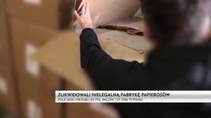 Mazowsze: policja zlikwidowała szajkę producentów papierosów