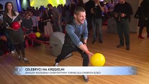 Celebryci na kręgielni - gwiazdy rozegrały charytatywny turniej dla chorych dzieci