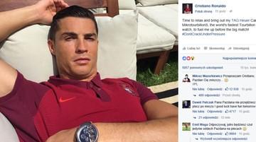 """30-06-2016 14:00 Polscy internauci """"zaatakowali"""" tablicę Ronaldo. Tysiące komentarzy i lajków"""