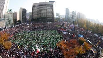 12-11-2016 10:01 Protest blisko miliona Koreańczyków. Chcą ustąpienia prezydent