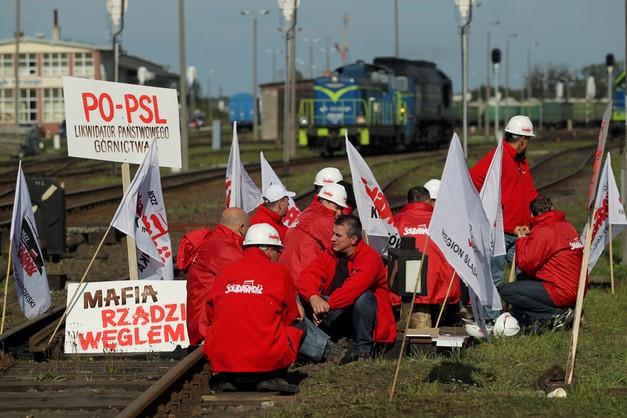 Górnicy zeszli z torów. Koniec protestu w Braniewie