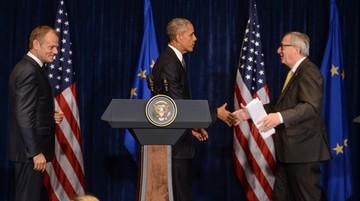 08-07-2016 12:13 Obama po spotkaniu z Tuskiem i Junckerem: bezpieczeństwo Stanów Zjednoczonych i Europy jest niepodzielne