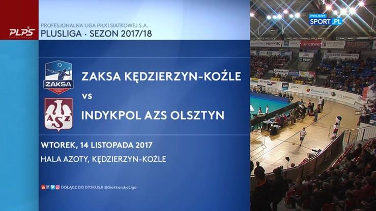 ZAKSA Kędzierzyn-Koźle - Indykpol AZS Olsztyn 3:2. Skrót meczu