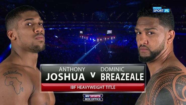2016-06-26 Anthony Joshua - Dominic Breazeale. Skrót walki