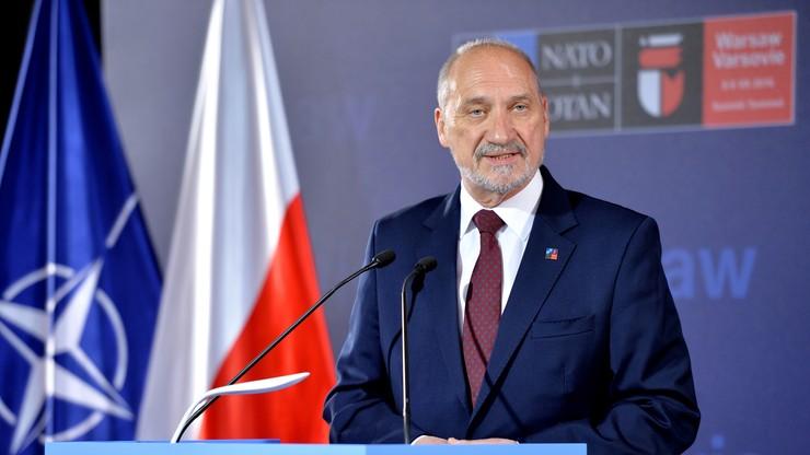 Macierewicz: Sojusz jest strukturą obronną, która jedynie odpowiada za zagrożenia