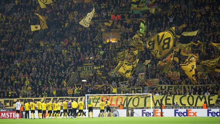 Nagi kibic Borussii Dortmund został złapany na stadionie! Spełniał marzenie