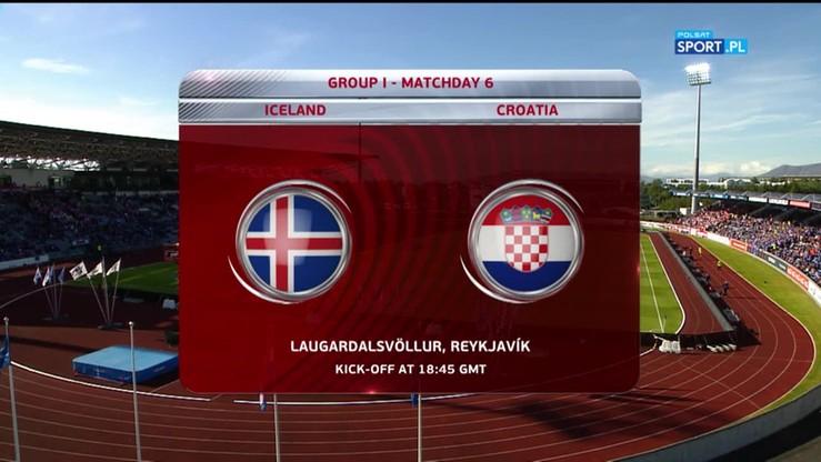 Islandia - Chorwacja 1:0. Skrót meczu